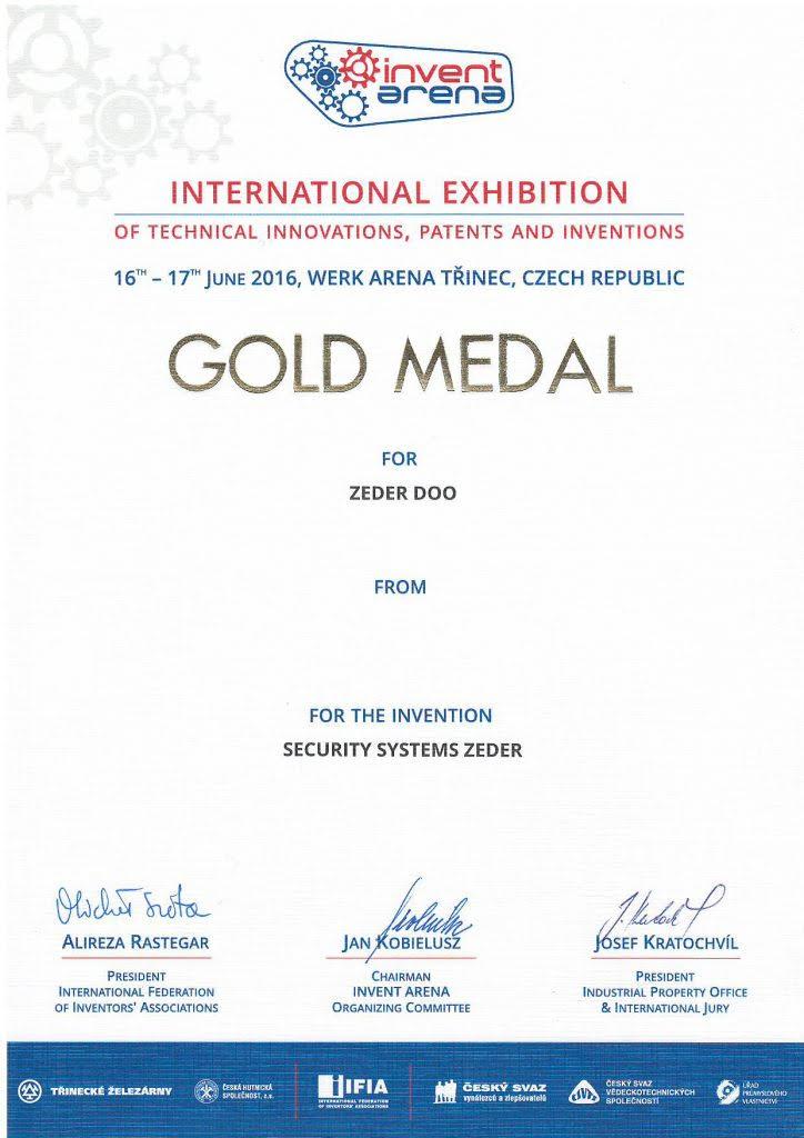 Zlatá medaile za vynález - Mezinárodní výstava