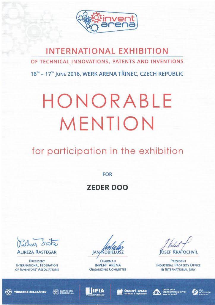 Čestné uznání - Mezinárodní výstava